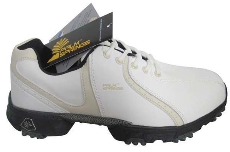 OPEN BOX Palm Springs Lady Golf Shoes White/Tan