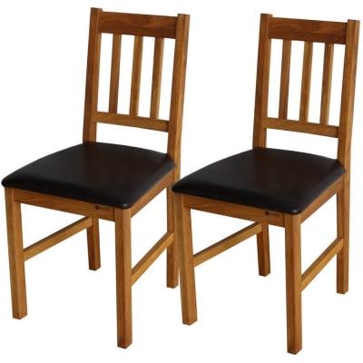 2 x Homegear Solid Oak Dining Chair