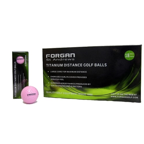 18 Forgan Golf Titanium Distance Golf Balls PINK