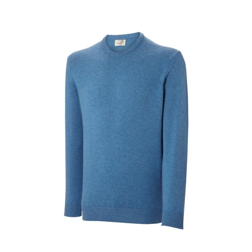 Ashworth Mens Long Sleeve Crew Neck Lambswool Sweater