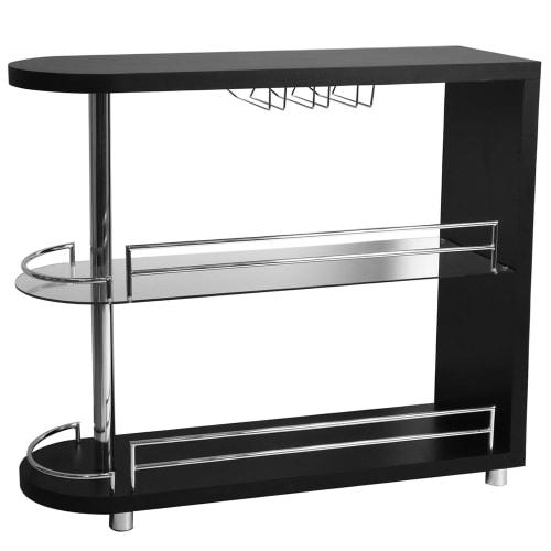 OPEN BOX Homegear Deluxe Kitchen Bar Table - Black