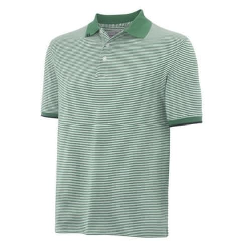 Ashworth Mens EZ-Tech Interlock Stripe Polo
