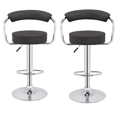 2 x Homegear M1 Kitchen Adjustable Bar Stools Black