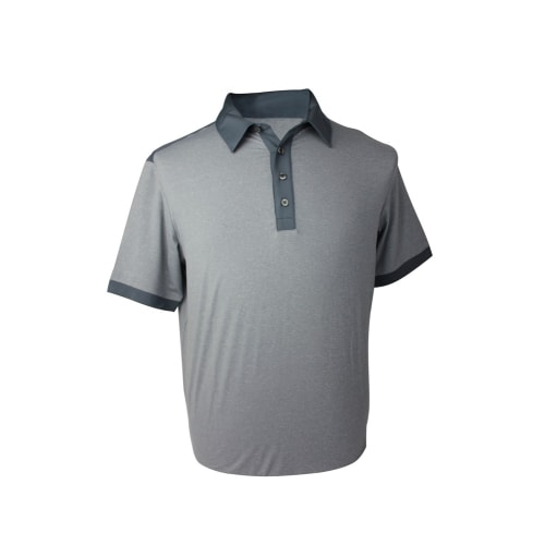 Adidas Mens AdiPure Heather Short Sleeve Polo