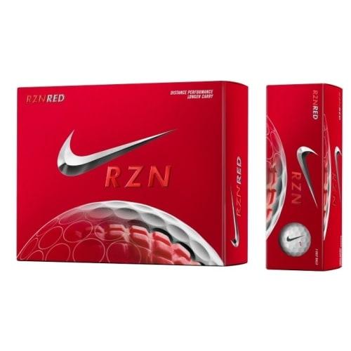 Nike RZN Red 1 Dozen Golf Balls - Red Longer Carry