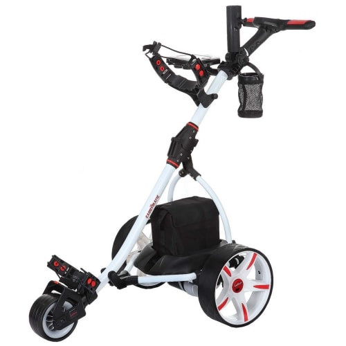Caddymatic V2 Electric Golf Trolley / Cart With 36 Hole battery With Auto-Distance Functionality White