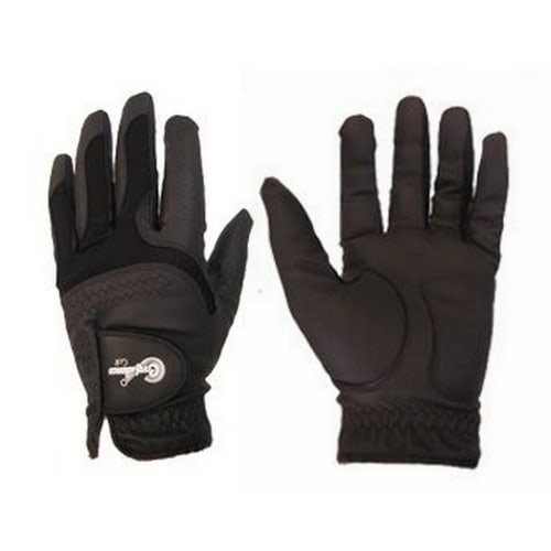 Confidence All Weather Mens Right Hand Golf Gloves 3 Pack, Black