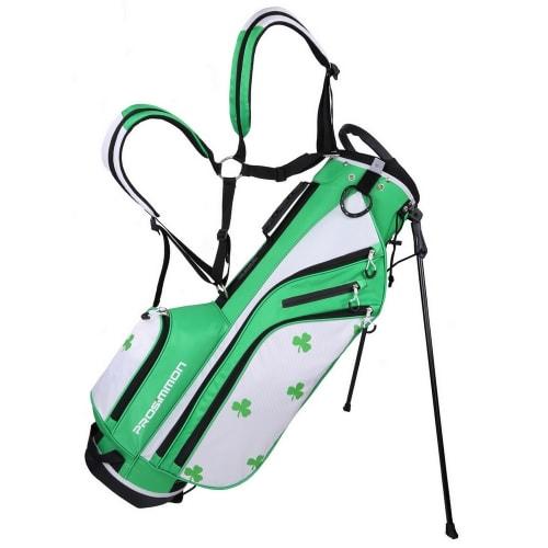 "Prosimmon Golf DRK 7"" Lightweight Golf Stand Bag with Dual Straps - Irish"