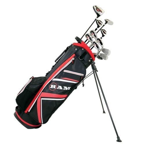 Ram Golf Accubar 16pc Golf Clubs Set - Graphite Shafted Woods and Irons - Mens Left Hand