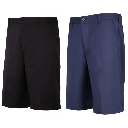 Woodworm Golf 2 Pack Mens Golf Shorts, 1 Black and 1 Blue