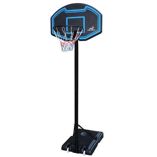 Woodworm Junior Basketball Hoop and Stand System with Net on Wheels, Outdoor Use