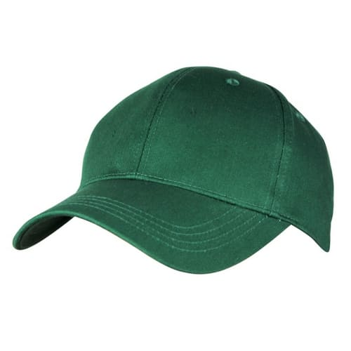 Woodworm Cricket Plain Cotton Cap - Green