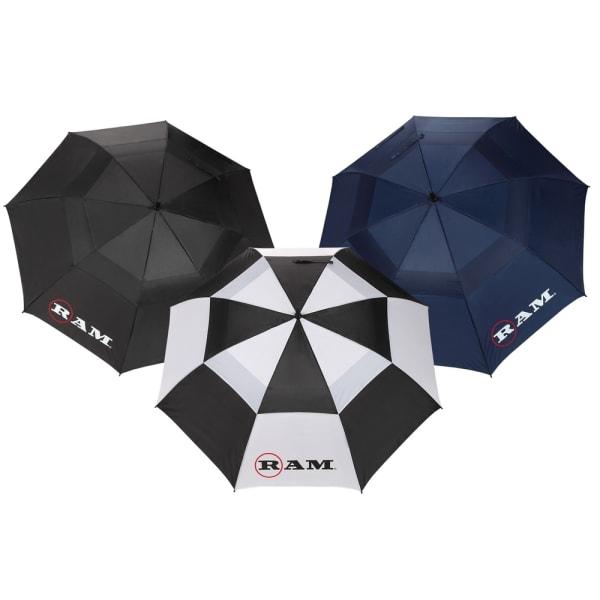 """3 Pack Ram Premium 60"""" Double Canopy Golf Umbrellas"""