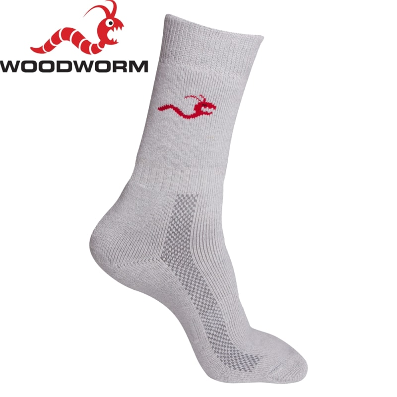 Woodworm Pro Deluxe Cricket Socks - 2 Pairs Size 35-38