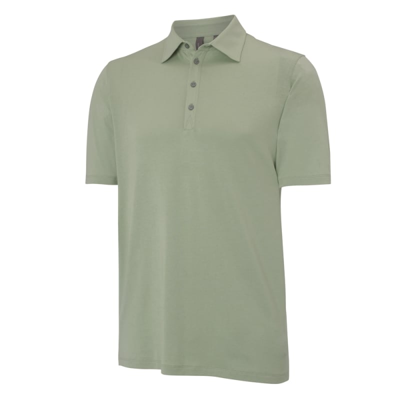 Ashworth Mens Solid Jersey Polo