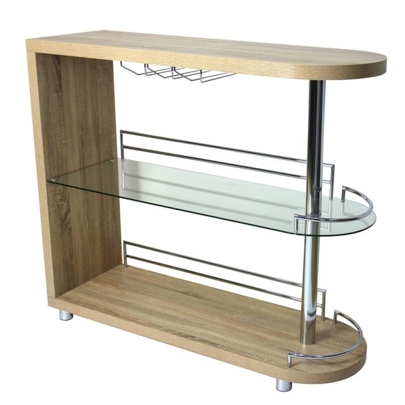 Homegear Deluxe Kitchen Bar Table - Oak #1