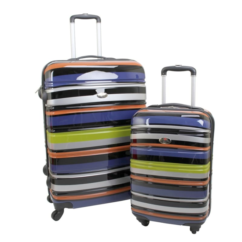 OPEN BOX Swiss Case 4W 2pc Suitcase Technicolor