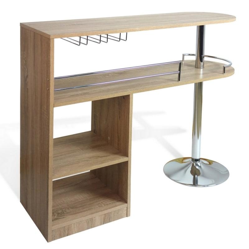 Homegear Deluxe Kitchen Bar Table - Oak #2
