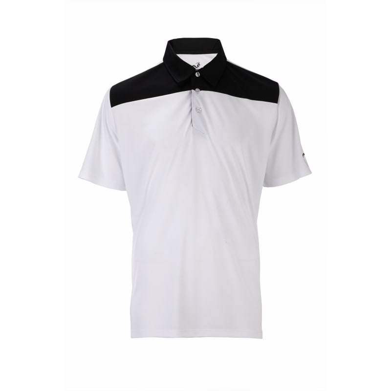 Woodworm Panel Golf Polo Shirts - White