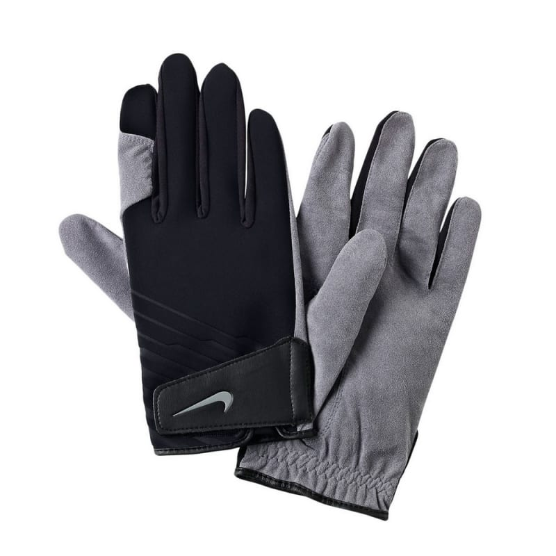 Nike Cold Weather Mens Golf Gloves Winter Pair - Black / White