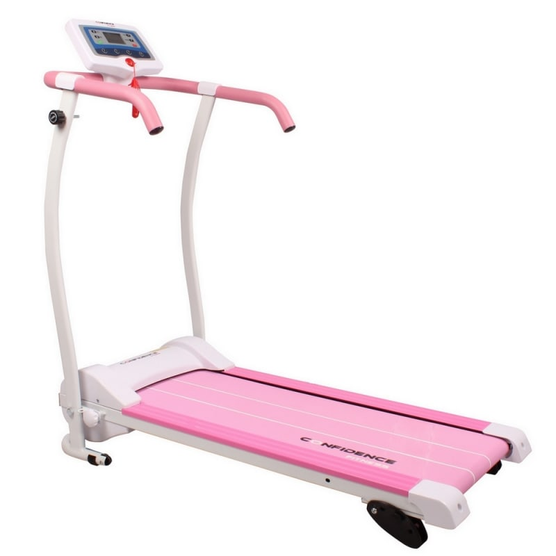 Ex-Demo Confidence Power Trac Pro 735W Electric Motorised Treadmill Pink