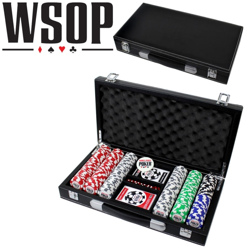 EX-DEMO World Series Of Poker 300pc Set with Leather Case