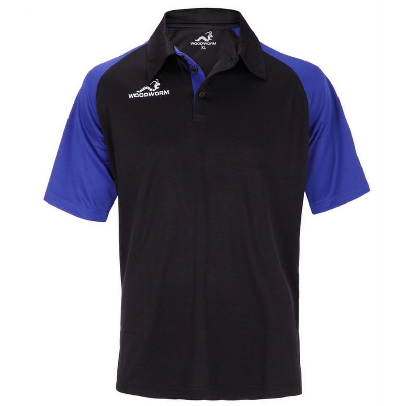 Woodworm Pro Cricket Short Sleeve Shirt Royal Blue