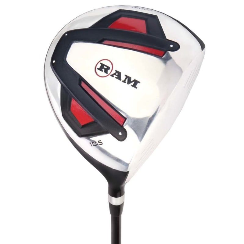 Ram Golf Accubar 1 Inch Longer 12pc Golf Clubs Set - Graphite Shafted Woods, Steel Shafted Irons - Mens Right Hand - Stiff Flex #1
