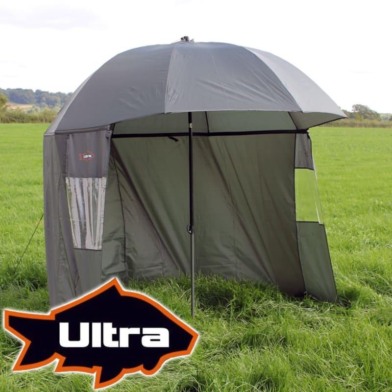 EX-DEMO Ultra Fishing 2.2m Umbrella w/ Zip Sides Windows