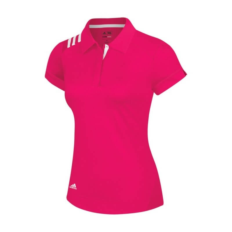 Adidas Ladies ClimaCool 3-S S J Polo Pink