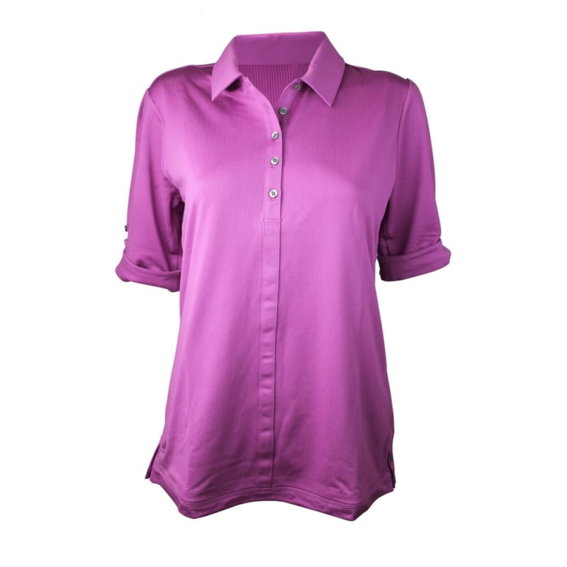 Adidas Womens AdiPure Button Cuff Polo