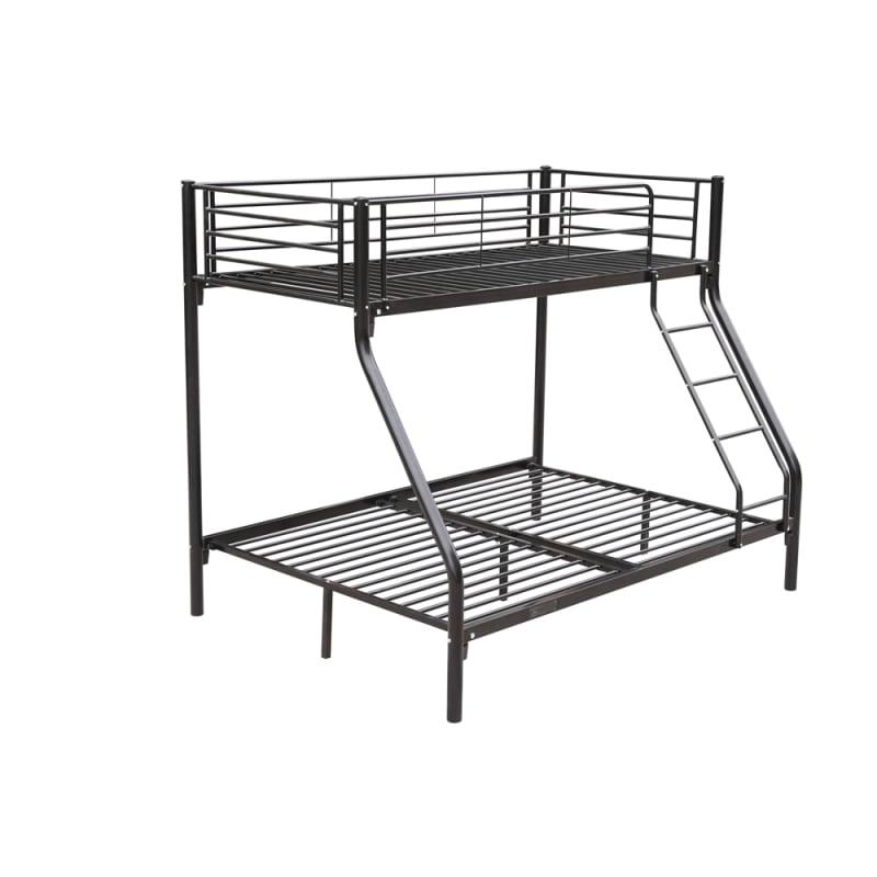 Homegear Triple Sleeper Metal Bunk Bed Black