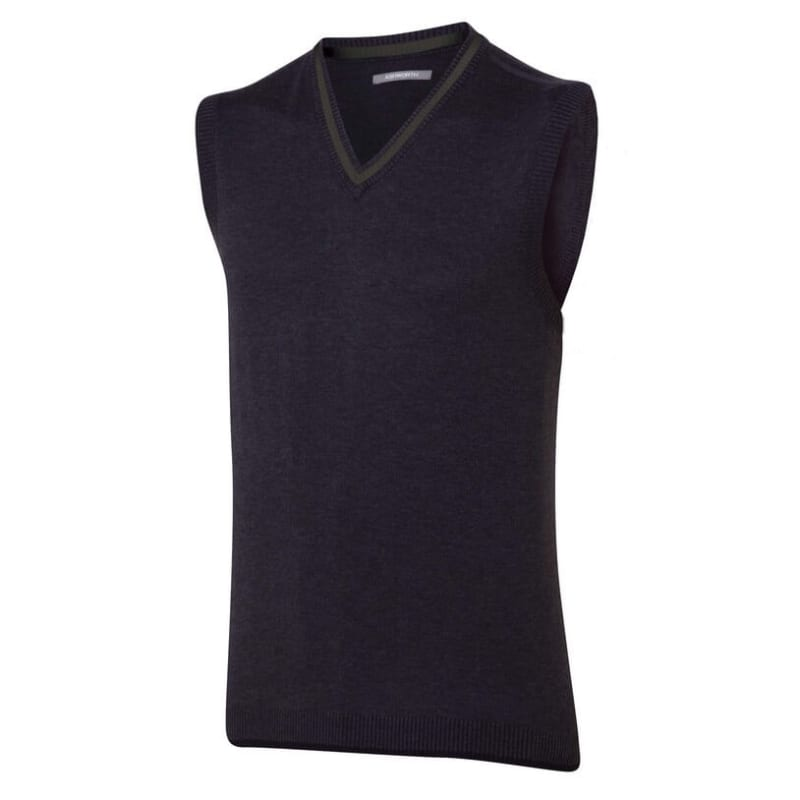 Ashworth Mens Melange Pima V-Neck Vest