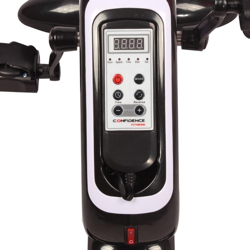OPEN BOX Confidence Fitness Motorized Electric Mini Exercise Bike Black / White #2