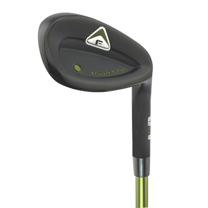 Forgan Tour Spin Black Satin Wedge #1