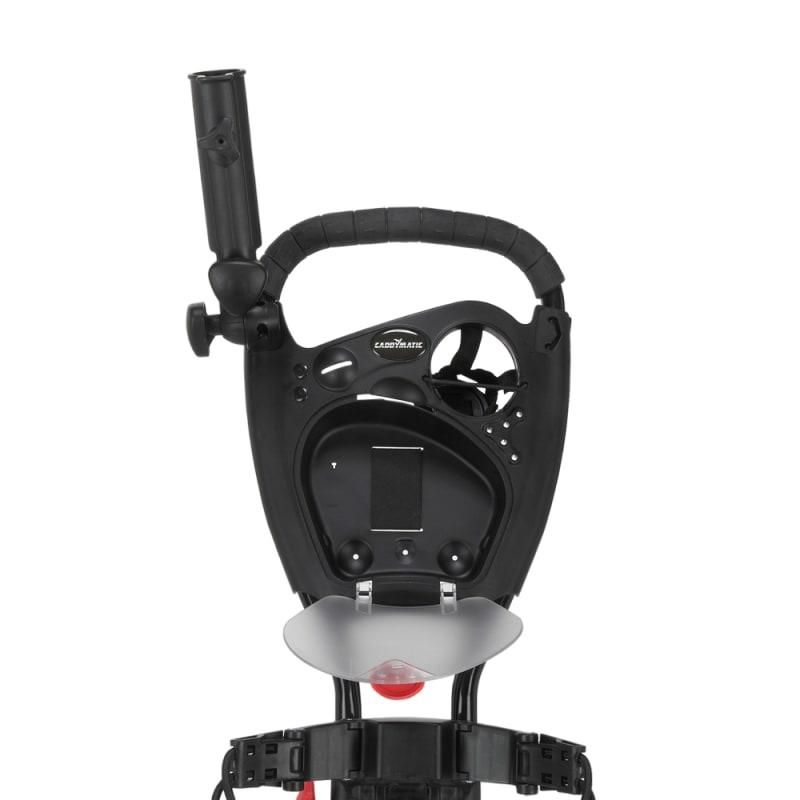 Caddymatic Golf Quad 4-Wheel Folding Golf Pull / Push Cart Black/Red #2