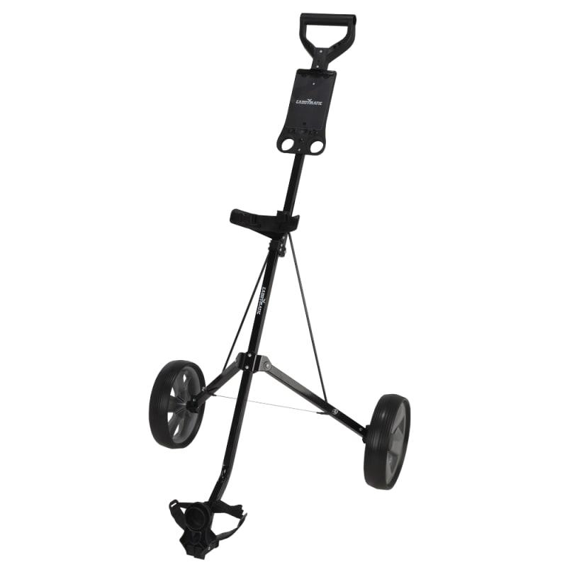 Caddymatic Golf i-Trac 2 Wheel Folding Golf Cart Black/Grey #