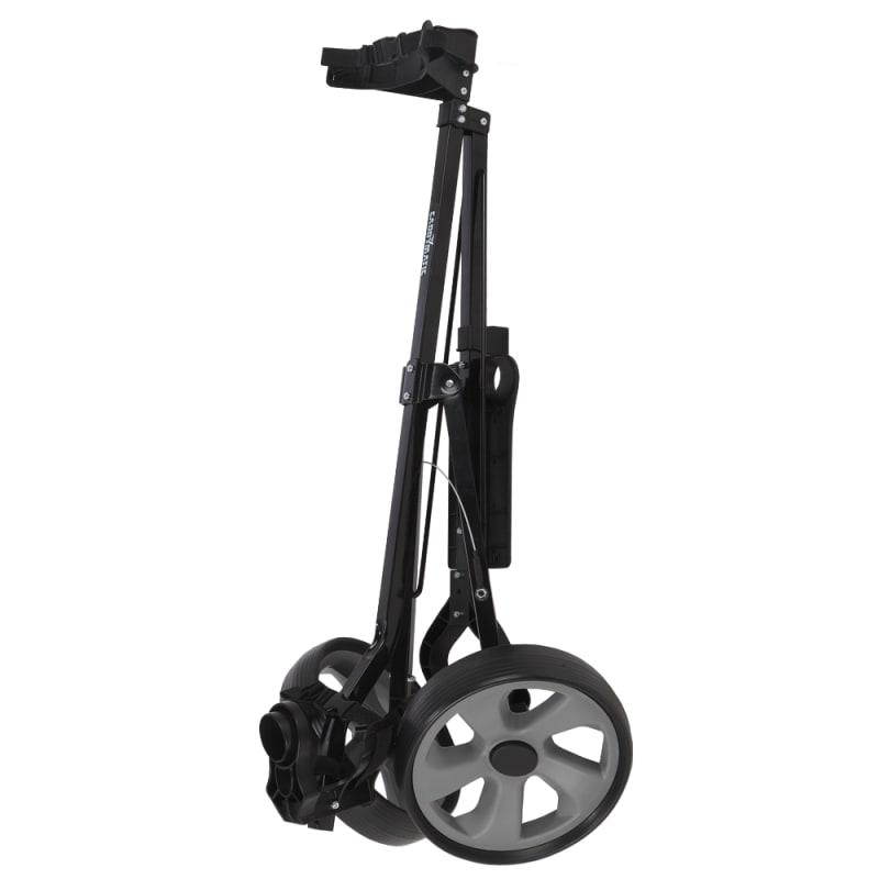 Caddymatic Golf i-Trac 2 Wheel Folding Golf Cart Black/Grey #1
