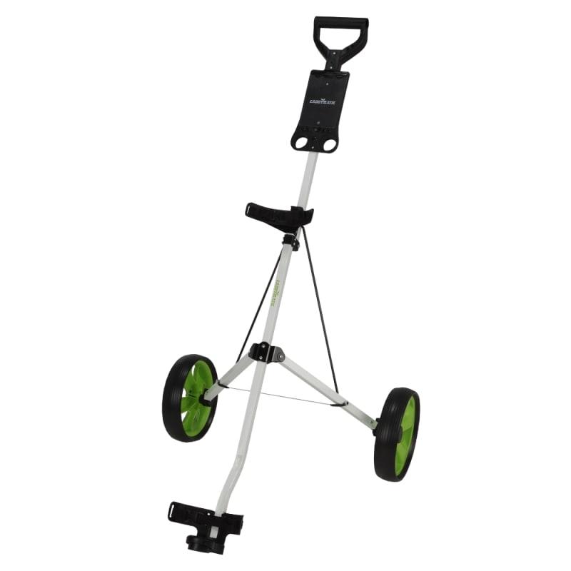 Caddymatic Golf i-Trac 2 Wheel Folding Golf Cart White/Green #1