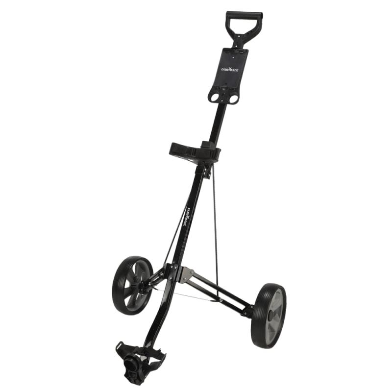 Caddymatic Golf Lite Trac 2 Wheel Folding Golf Cart Black #