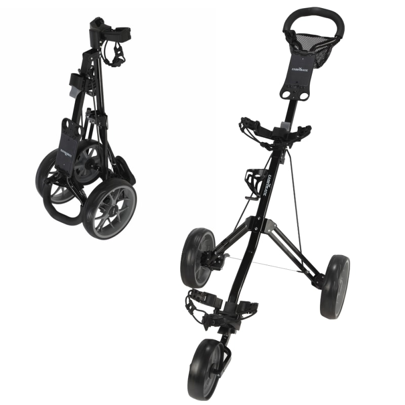 Caddymatic Golf Pro Lite 3 Wheel Golf Trolley Black