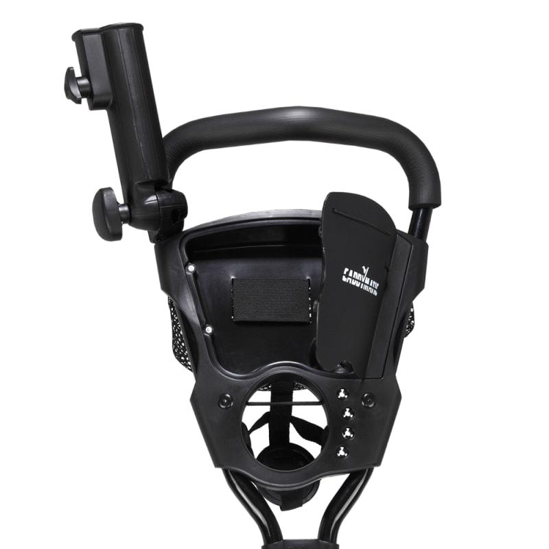 Caddymatic Golf X-TREME 3 Wheel Push/Pull Golf Cart with Seat Black/Red #2
