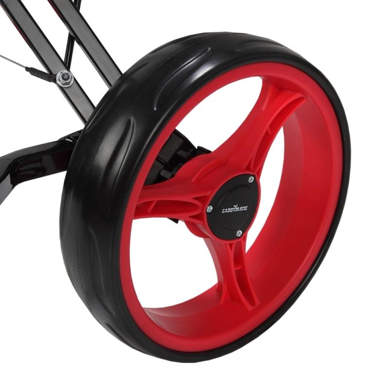 Caddymatic Golf X-TREME 3 Wheel Push/Pull Golf Cart with Seat Black/Red #5
