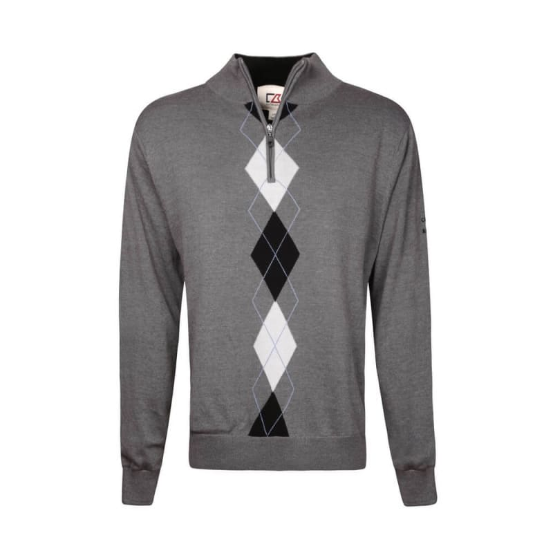 Cutter and Buck Lined Argyle Sweater Coal/Bk