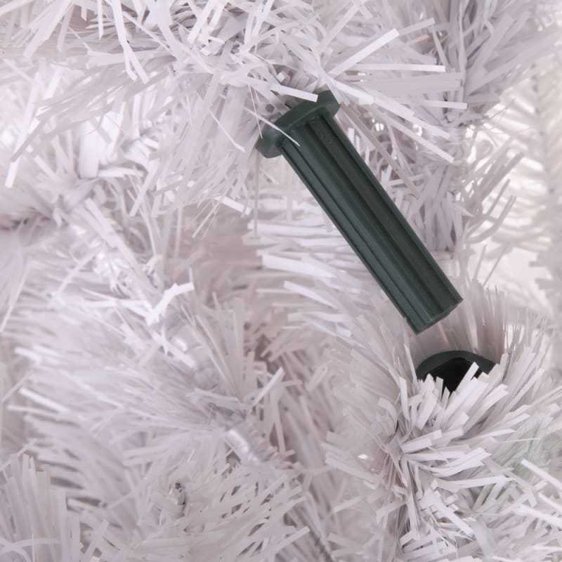 Homegear 6FT Artificial White Christmas Tree #7