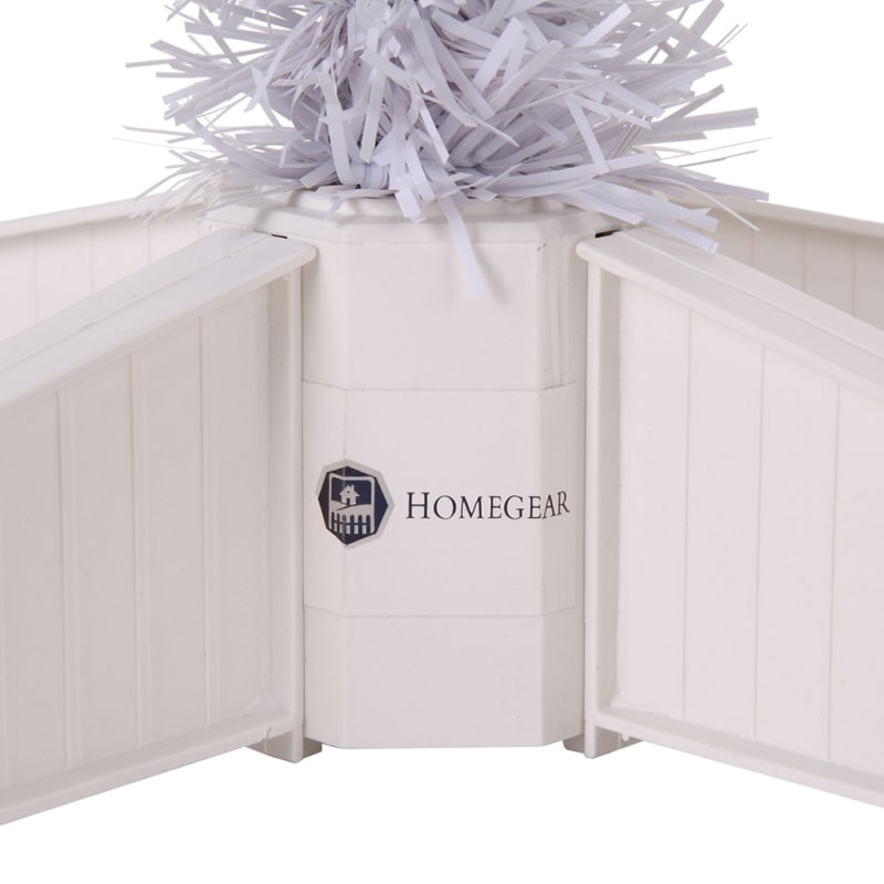 Homegear 6FT Artificial White Christmas Tree #9