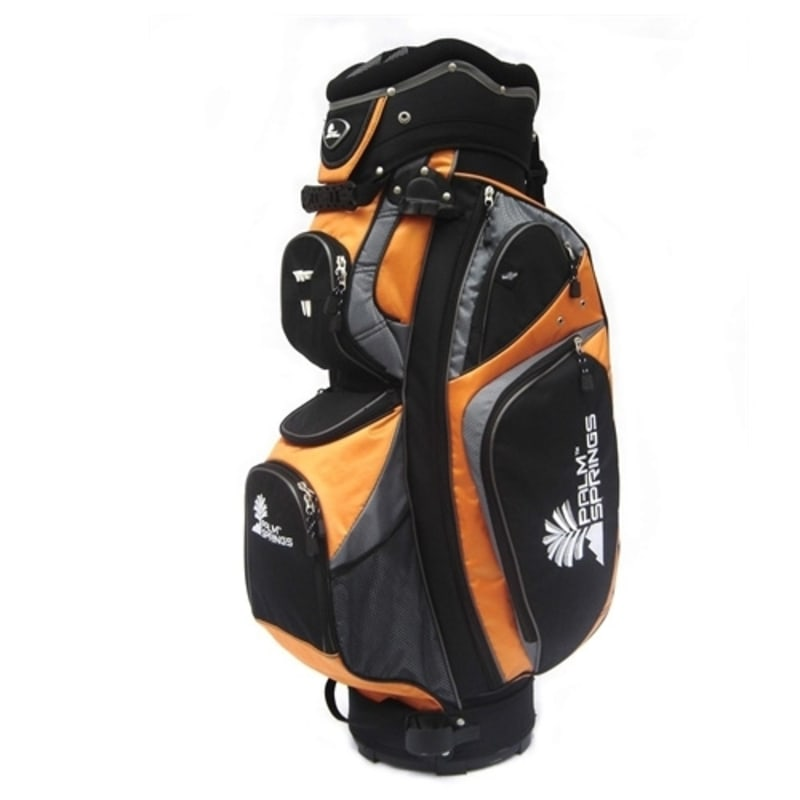 OPEN BOX Palm Springs Golf 14 Way Divider Cart Bag  - Orange
