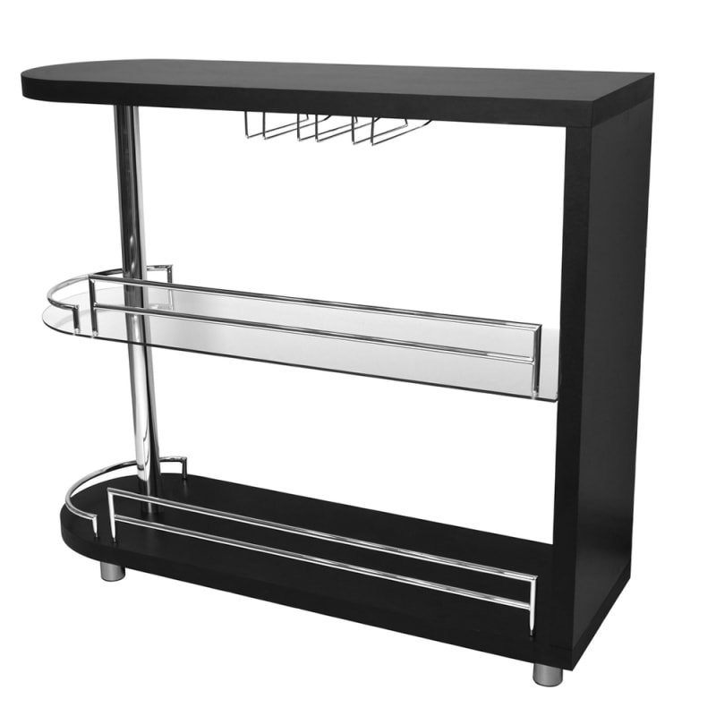 Homegear Deluxe Kitchen Bar Table - Black #5