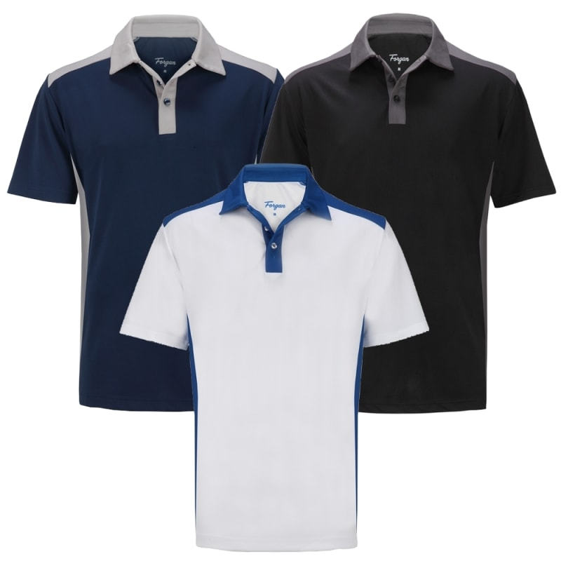 Forgan of St Andrews Select Premium Golf Polo Shirt 3 Pack - Mens