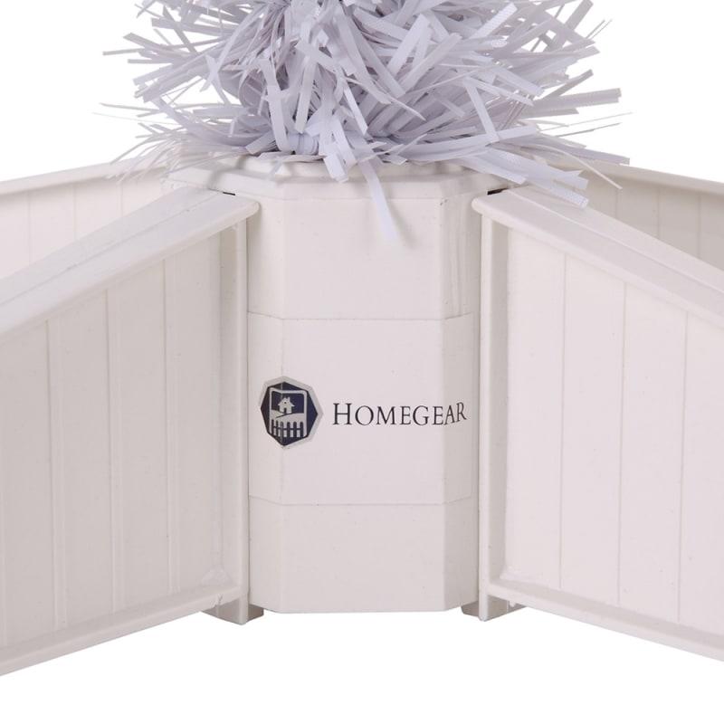 OPEN BOX Homegear 6ft White Artificial Xmas Tree #8